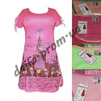 Женская котоновая ночная рубашка AD1 (БОЛЬШИЕ РАЗМЕРЫ) оптом со склада в Одессе.