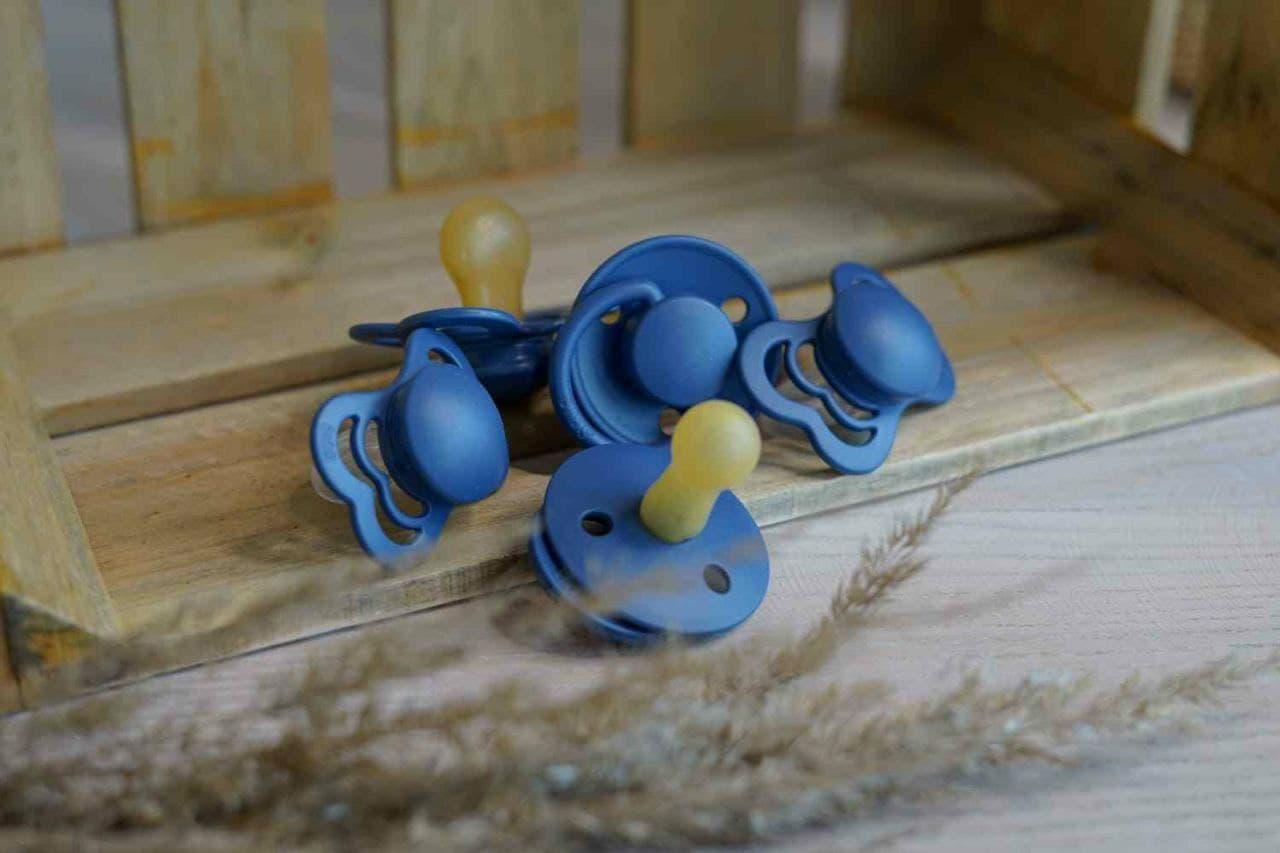 Пустушка BIBS колір steel blue, розмір 2, 6-18міс