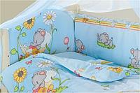 Комплект детского постельного белья «Малыш Lux»,Слоник голубой