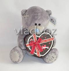 Мягкий мишка с коробочкой в виде сердца #1