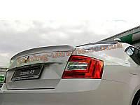 Высокий лип спойлер на Skoda Octavia A7
