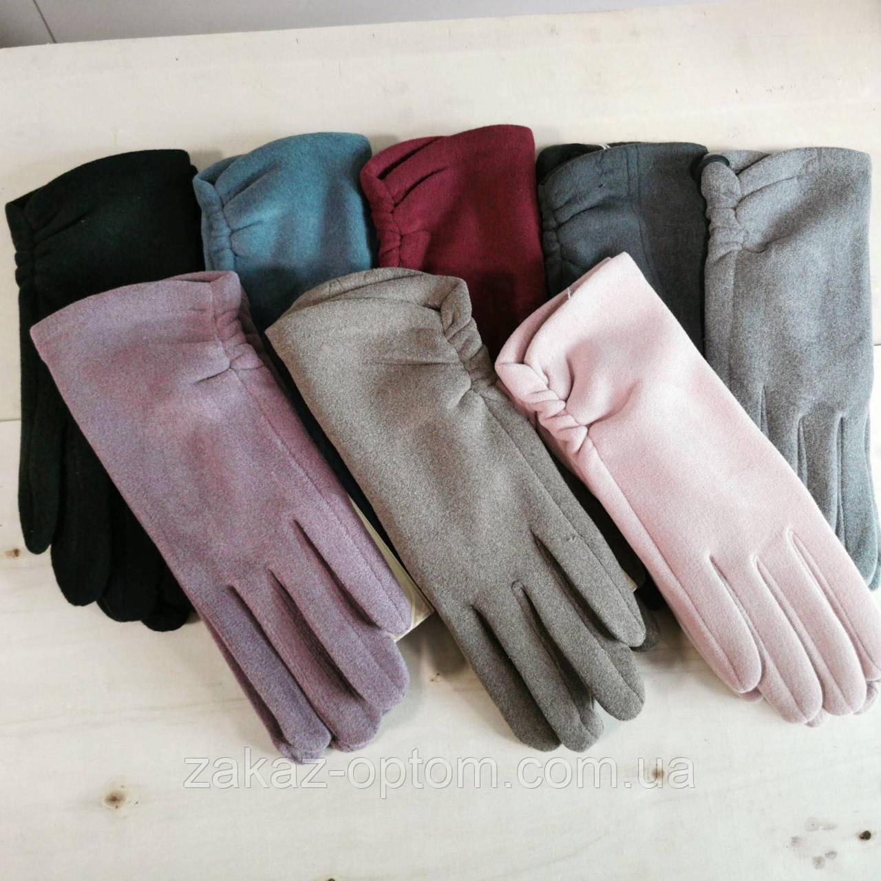 Перчатки женские сенсорные пальтовая ткань оптом Китай-82062