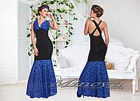 Платье-русалка вечернее с гипюром