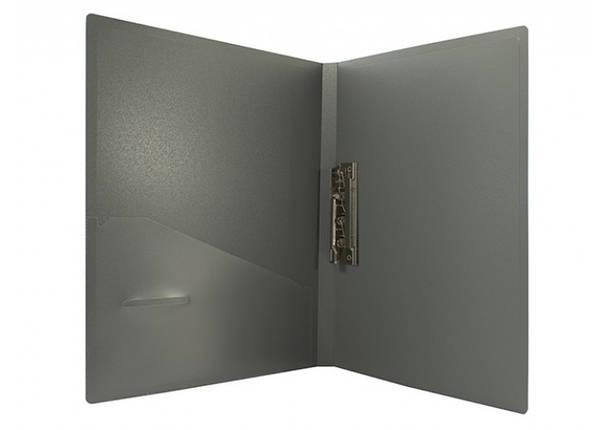 Папка с прижимом А4 Economix Е31202 пластиковый 20мм с боковым прижимом и карманчиком, фото 2