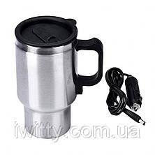 Термокружка автомобільна електрична 350 мл Electric Mug 12V ART-0457, фото 3