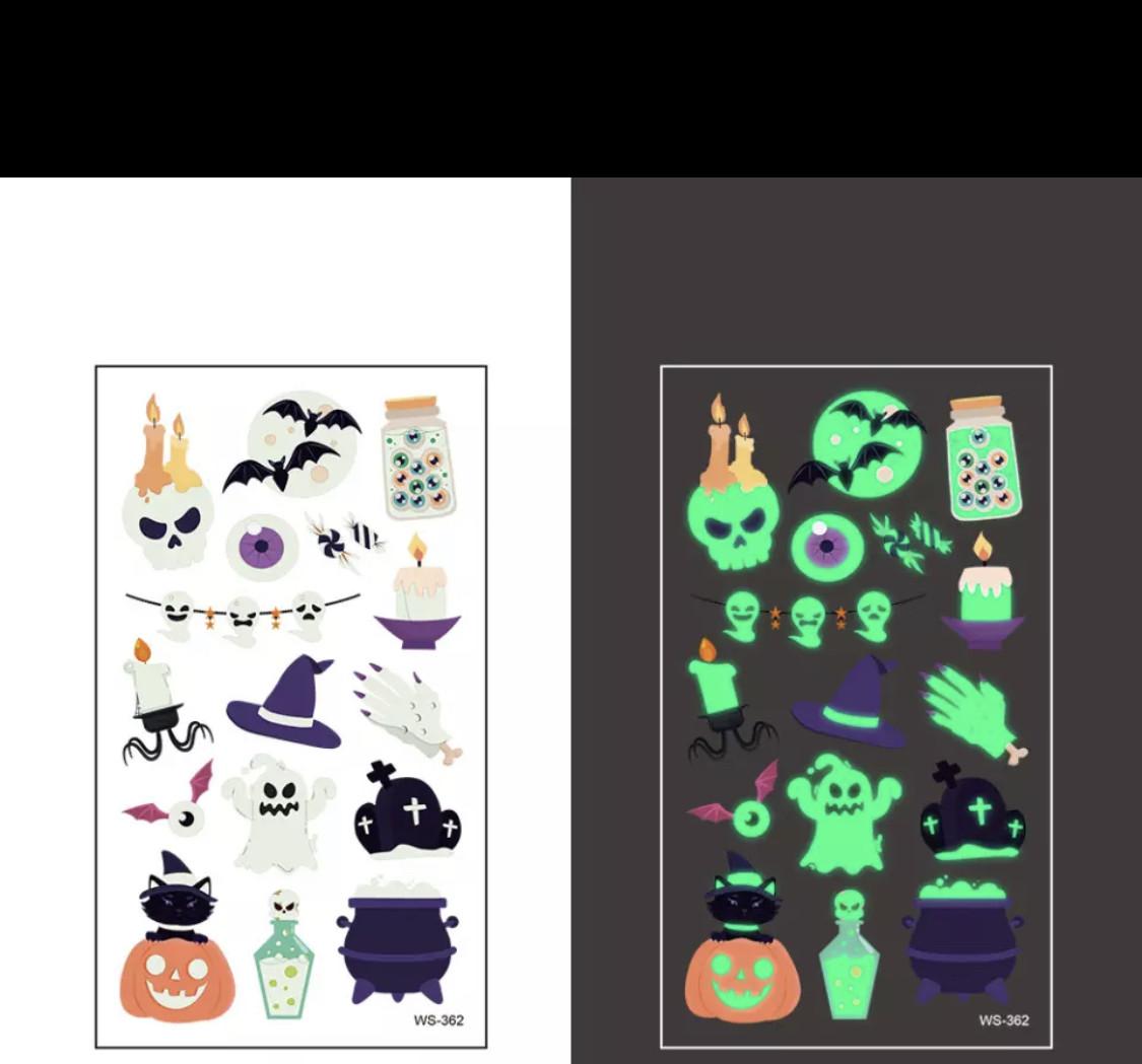 Татуировки неоновые на Хеллоуин