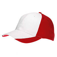Бейсболка от Sun Line двухцветная, 6-ти панельная, хлопок, уплотнённый козырёк, красная с белым, недорого