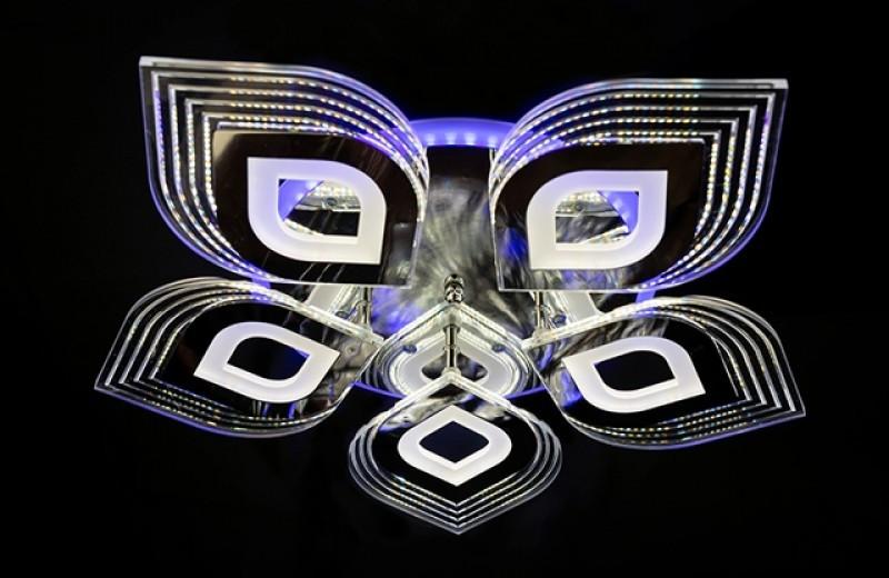 Світлодіодна люстра з діммером 2728-5CH LED 3color dimmer