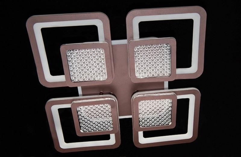 Стельова світлодіодна люстра 2727-4CF LED 3color dimmer