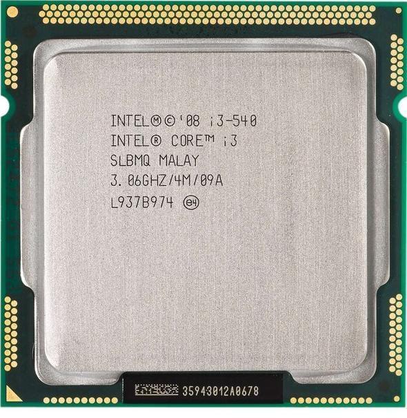 Процессор Intel Core i3-540, 2 ядра/4 потока