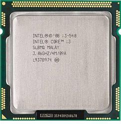 Процесор Intel Core i3-540, 2 ядра/4 потоку