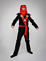 Карнавальный костюм Ниндзяго красный 116р., фото 1
