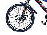 """Велосипед 20 дюймів """"Scale Sports"""" Червоний, з ручними і дисковими гальмами, фото 3"""