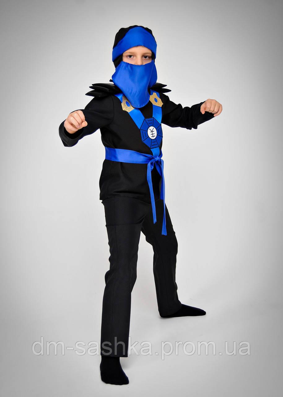 Карнавальний костюм Ниндзяго синій 98р.