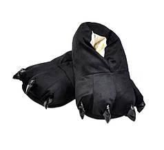Тапочки Кигуруми Лапы Черные L (размер 38-43)