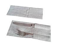 Кармашек для столовых приборов из льна