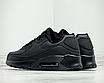 Чоловічі зимові спортивні кросівки чорні шкіряні утеплені на хутрі, фото 3