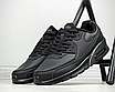 Чоловічі зимові спортивні кросівки чорні шкіряні утеплені на хутрі, фото 2