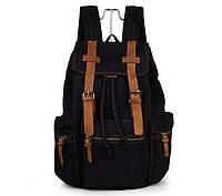 Мужской рюкзак  с кожаными вставками