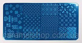 Пластина для стемпинга диск металлический маленький 6*12 см Dxebig-A09
