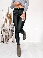 """Лосины женские молодежные, диско кожа флис, размеры 25-30 """"LAIM"""" купить недорого от прямого поставщика"""