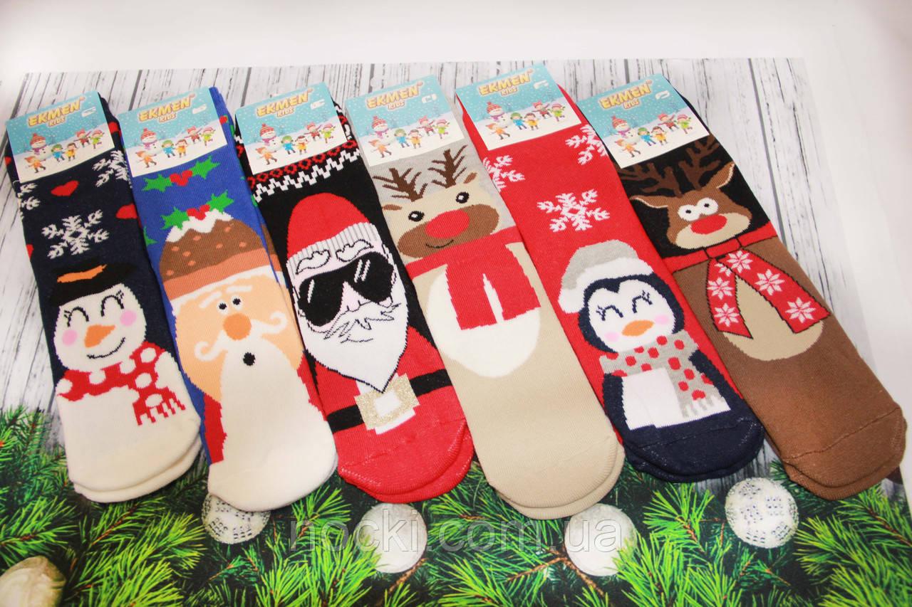 Детские носки махровые новогодние EKMEN 10-11