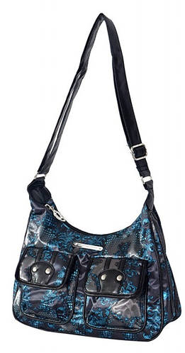 Эффектная женская сумка Daniel Ray нейлон 42,587500 черная