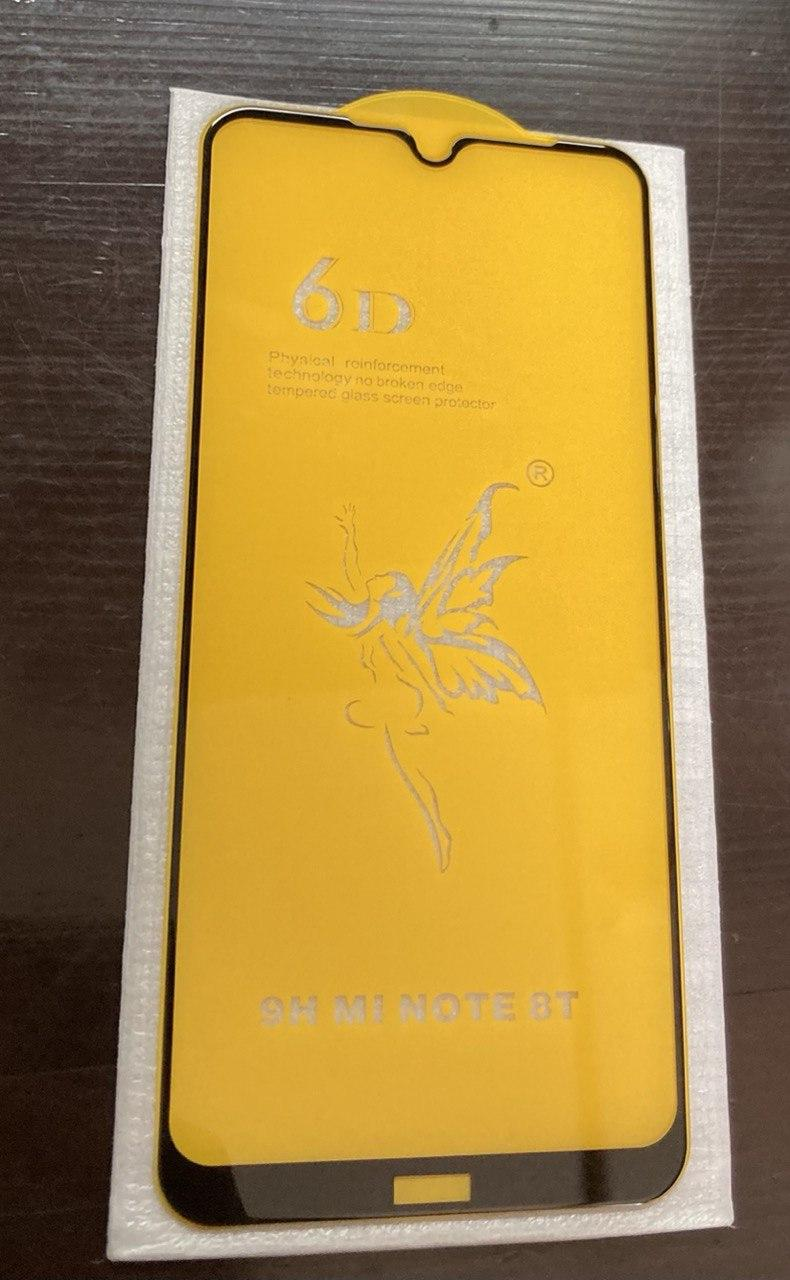 Скло 6D Xiaomi Redmi note 8T - захисне, premium