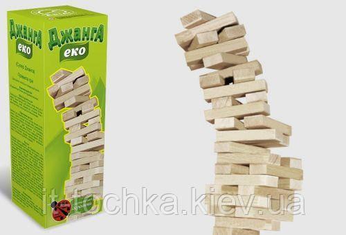 Настольная игра arial 21054 Эко Джанга на 54 деревянных брусков
