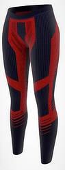 Женские термо лосины зональные лыжные Crivit Pro Германия размер L синий с розовым (305273)