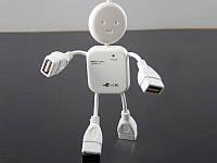 USB Hub (разветвитель) Человечек 4 порта *1004