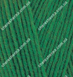 Нитки Alize Lanagold 800 118 зеленая трава