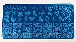 Пластина для стемпинга диск металлический маленький 6*12 см MaiSheng-40