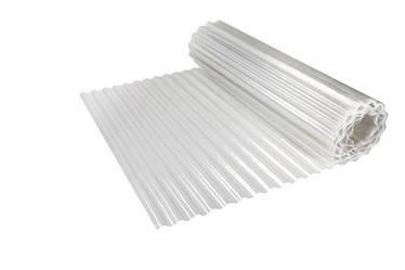 Рулонний пластиковий шифер Элипласт 2,0 м гофрований білий (молочний), фото 2