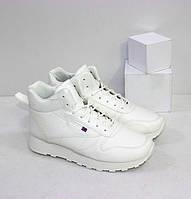 Високі утеплені кросівки для хлопчика білі р. 38-39