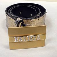 Ремень кожаный женский BALIZZA золотой, фото 1