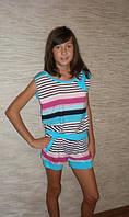 """Костюм для девочки """"Полоска"""" голубой . Детская одежда оптом."""