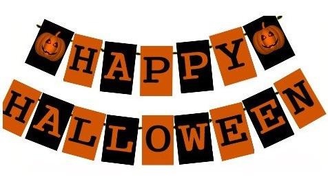 Гирлянда Happy Halloween 5 м (декорации для Хэллоуина)
