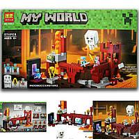 """Конструктор Bela 10393 (79147) """"Подземная крепость"""" Minecraft, 571 дет"""