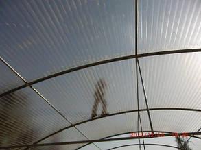 Рулонний пластиковий шифер FIBROLUX 1.5 м гофрований бронзовий, фото 2