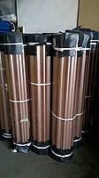 Рулонный пластиковый шифер FIBROLUX 2,0м гофрированный бронзовый, фото 2