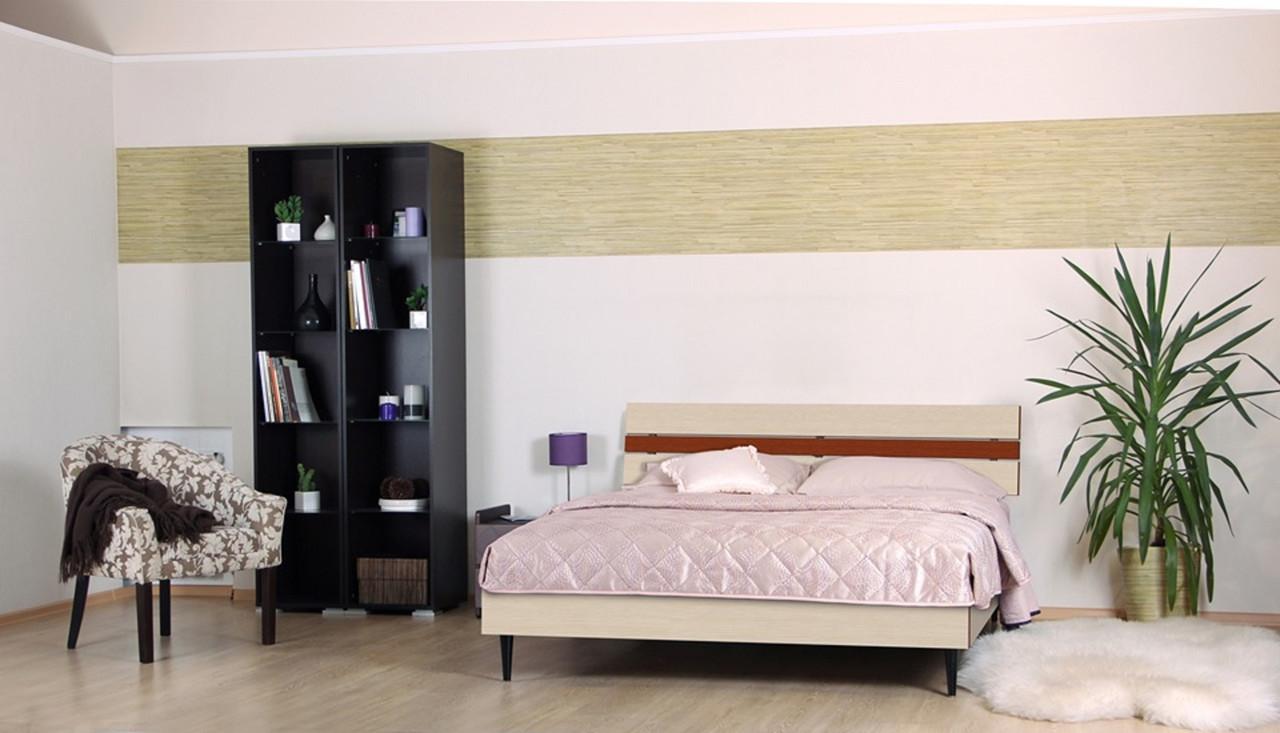 Кровать (ДСП) Прагматик-Микс дуб молочный+яблоня (Comfoson ТМ)