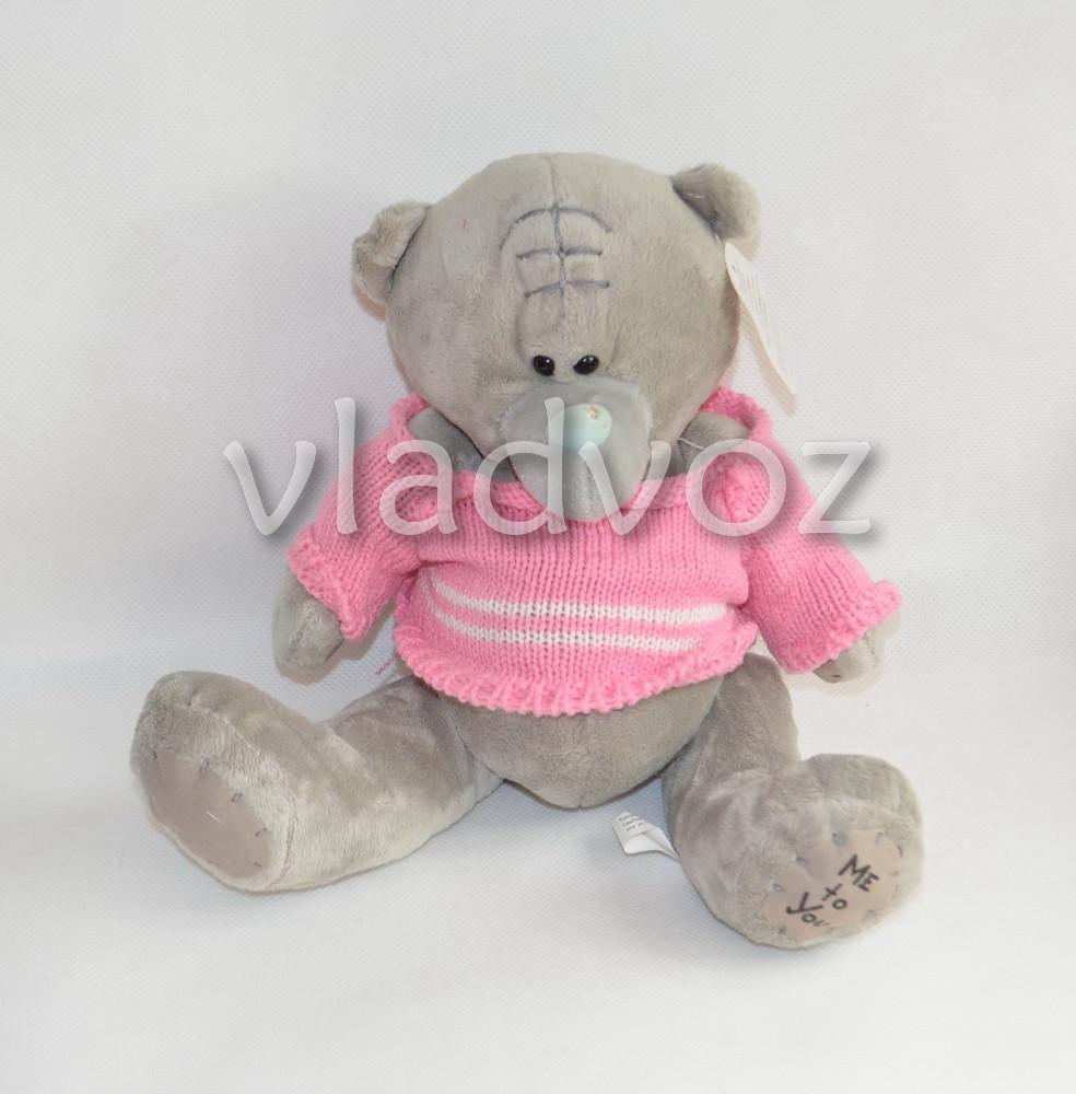 Мягкий мишка тедди в свитере Me to You розовый