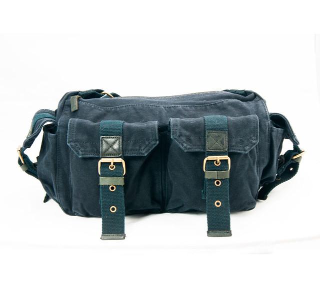 Мужская сумка через плечо Virginland | черная вид спереди.