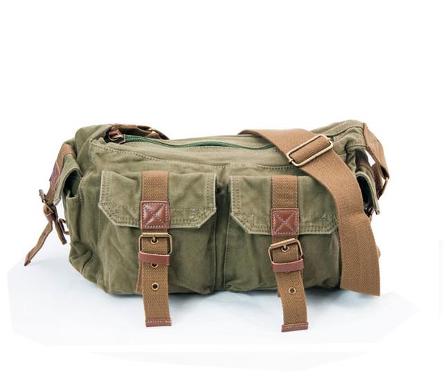 Мужская сумка через плечо Virginland | вид спереди цвет хаки.