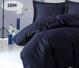 Комплект постільної білизни однотонний Бязь GOLD 100% бавовна Сірого кольору, фото 4