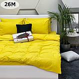 Комплект постільної білизни однотонний Бязь GOLD 100% бавовна Сірого кольору, фото 7