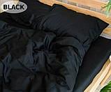 Комплект постільної білизни однотонний Бязь GOLD 100% бавовна Сірого кольору, фото 10