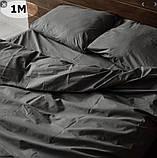 Комплект постельного белья однотонный   Бязь  GOLD 100% хлопок Темно - синего  цвета, фото 2