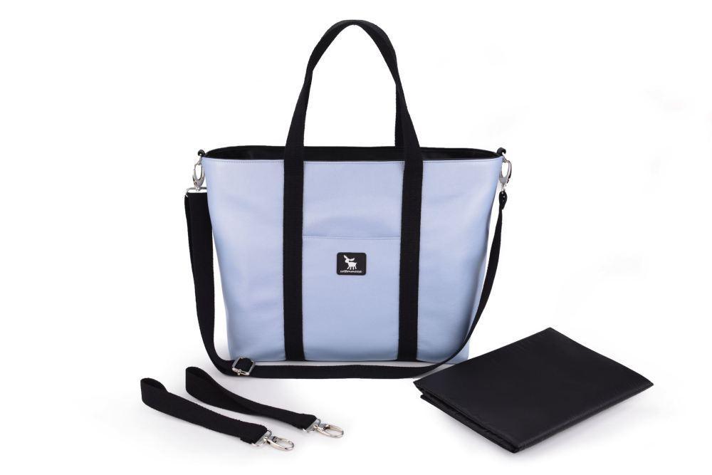 Сумка для коляски Cottonmoose Shopper 750/151 blue pearl leather (блакитний еко-шкіра)